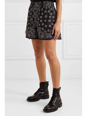 Alexander Wang printed silk-satin shorts