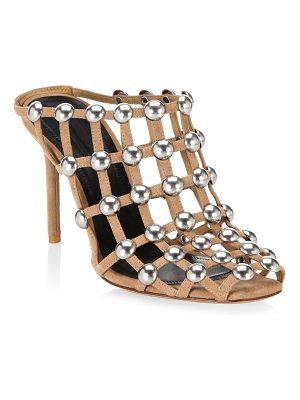 Alexander Wang sadie studded slip-on suede sandals