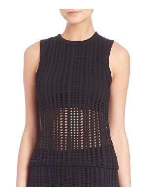 Alexander Wang Stretch Cotton Jacquard Jersey Tank Top