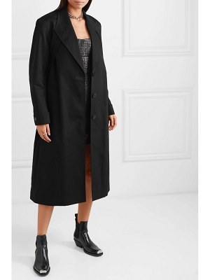 Alexander Wang studded cotton-blend twill coat