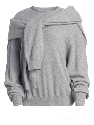 Alexander Wang tie shoulder crew sweater