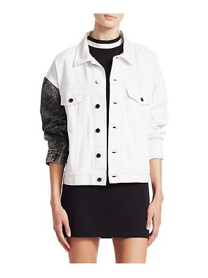 Alexander Wang two-tone denim jacket