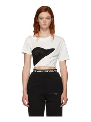 Alexander Wang white draped bustier t-shirt