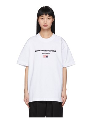 Alexander Wang white logo flag t-shirt