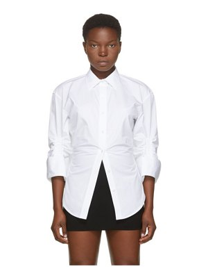 Alexander Wang white oversized cinched shirt