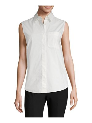 Alexander Wang Wrap-Back Sleeveless Poplin Blouse