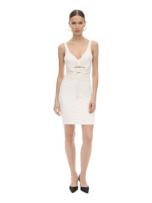 Alexander Wang Wrapped crepe & jersey mini dress