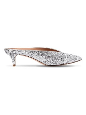 ALEXANDER WHITE 30mm nieves glittered mules