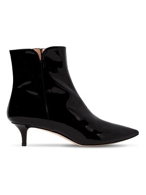 ALEXANDER WHITE 30mm orla patent leather ankle boots