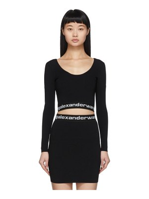 alexanderwang.t black bodycon long sleeve t-shirt