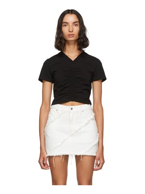 alexanderwang.t black cropped ruched t-shirt