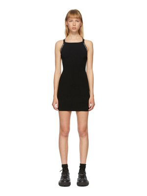 alexanderwang.t black logo trim bodycon dress