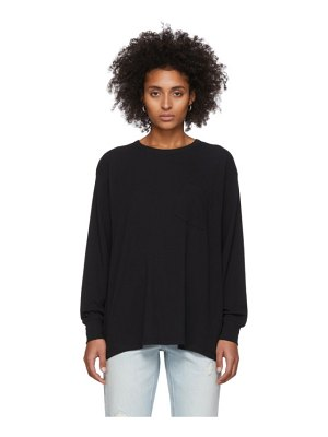 alexanderwang.t black tilted pocket long sleeve t-shirt