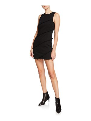 alexanderwang.t Diagonal Seamed Crewneck Mini Dress
