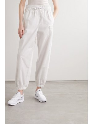 alexanderwang.t embroidered shell and cotton-jersey track pants