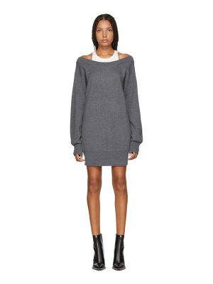 alexanderwang.t grey inner tank knit dress