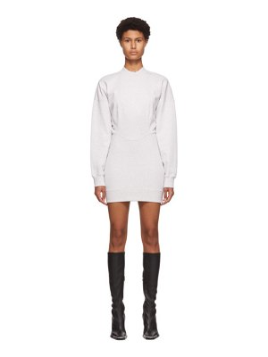 alexanderwang.t grey sculpted long sleeve mini dress