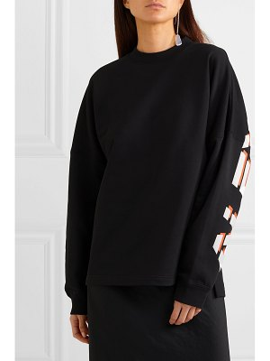 alexanderwang.t oversized printed cotton-terry sweatshirt