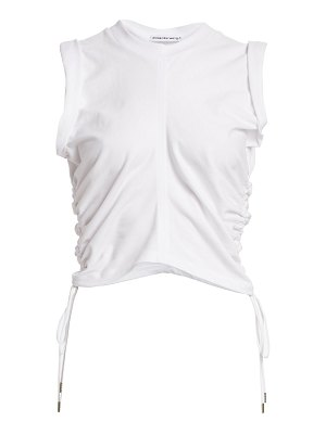 alexanderwang.t ruched crop t-shirt