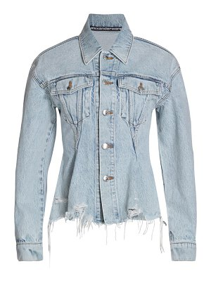 alexanderwang.t sculpted flare denim jacket