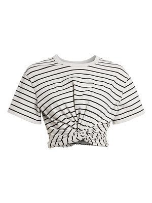 alexanderwang.t striped twist crop t-shirt
