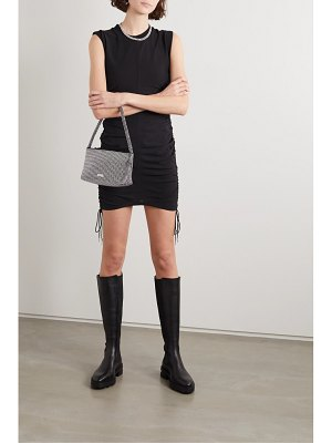 alexanderwang.t wash and go ruched cotton-jersey mini dress