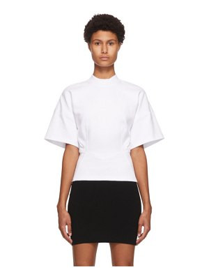 alexanderwang.t white sculpted short sleeve t-shirt