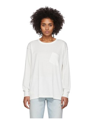 alexanderwang.t white tilted pocket long sleeve t-shirt