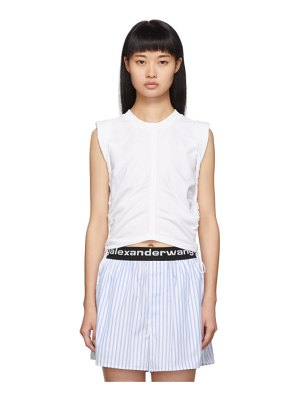 alexanderwang.t white wash and go side tie crop top