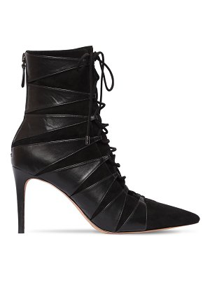 Alexandre Birman 85mm becca leather & suede ankle boots