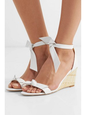 Alexandre Birman clarita bow-embellished leather espadrille wedge sandals