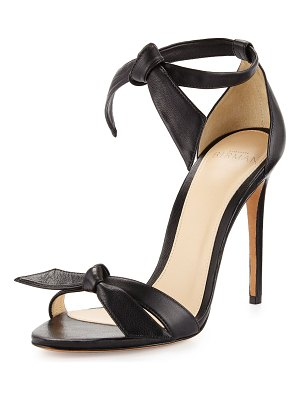 Alexandre Birman Clarita Leather Ankle-Tie 100mm Sandals