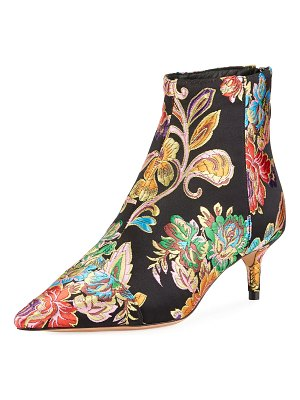 Alexandre Birman Kittie Jacquard Zip Booties