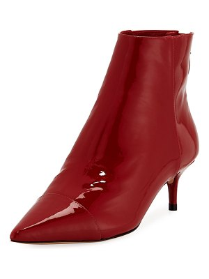 Alexandre Birman Kittie Patent Point-Toe Booties