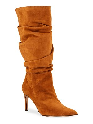Alexandre Birman Lucy Slouchy Suede Stiletto Boots