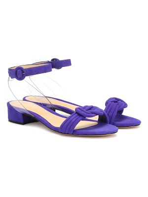Alexandre Birman Vicky PVC and suede sandals