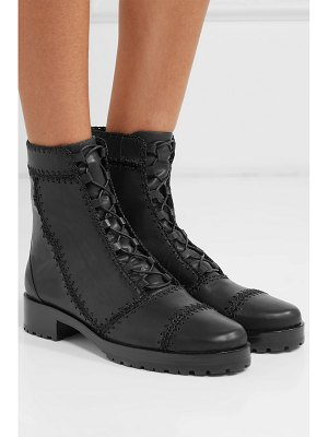 Alexandre Birman whipstitched leather ankle boots
