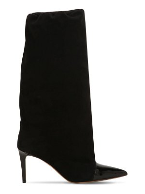 Alexandre Vauthier 100mm laura suede & patent leather boots
