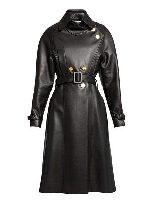 Alexandre Vauthier belted double breasted leather coat