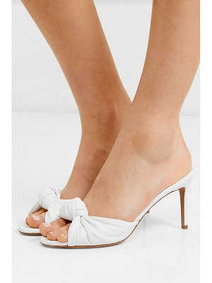 Alexandre Vauthier blake knotted leather mules