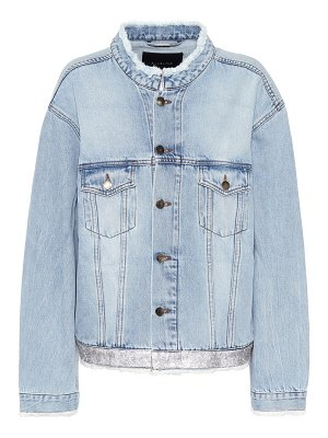 Alexandre Vauthier Crystal-embellished denim jacket