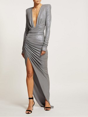Alexandre Vauthier crystal embellished ruched gown