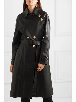Alexandre Vauthier double-breasted leather coat