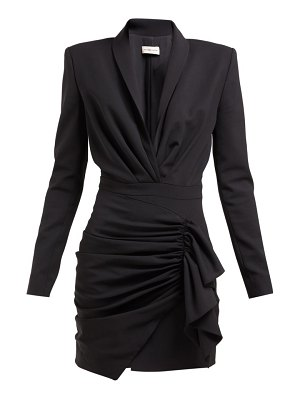 Alexandre Vauthier draped wool blend twill mini dress
