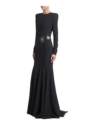 Alexandre Vauthier embroidered high-neck gown