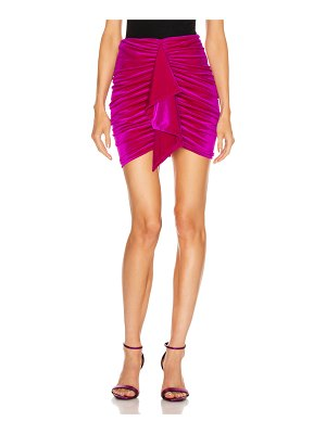 Alexandre Vauthier for fwrd ruched velvet mini skirt