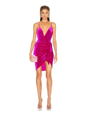 Alexandre Vauthier for fwrd sleeveless ruched velvet mini dress