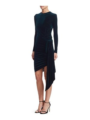 Alexandre Vauthier gathered velvet bodycon dress