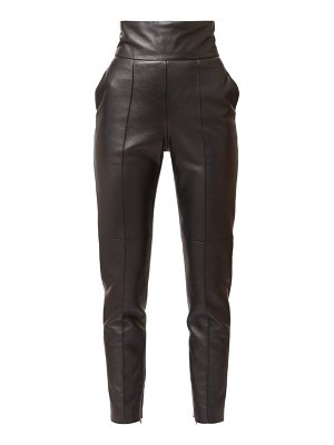 Alexandre Vauthier high-rise leather slim trousers