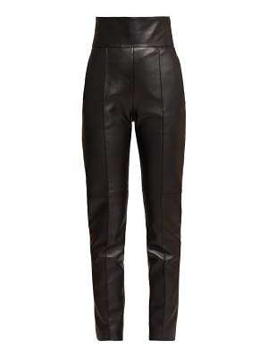 Alexandre Vauthier high rise slim fit leather trousers
